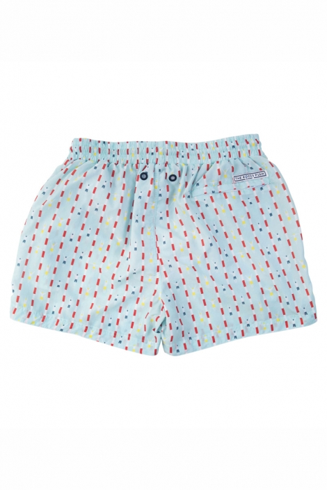 The Rocks Push mid-length mens board shorts blue laps recycled